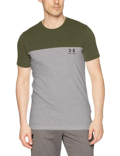 Under Armour Grey Camo Athlete Men's Short-Sleeve Logo Shirt (1) (2)